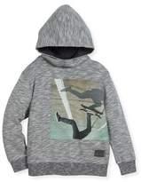 Molo Maximo Hooded Skater Sweatshirt, Gray, Size 4-12