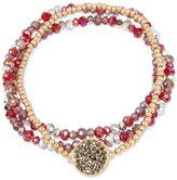 Kenneth Cole New York 3-Pc. Set Crystal and Stone Stretch Bracelets