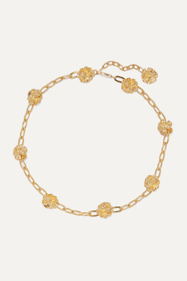 LEIGH MILLER Net Sustain Gold-plated Choker