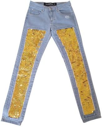 Filles a papa Blue Cotton Jeans for Women