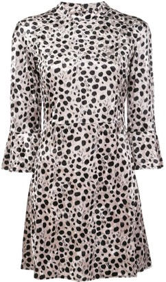 HVN Mini Ashley bell-sleeve dress