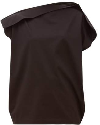 Issey Miyake Unique Panelled Cotton-jersey T-shirt - Womens - Black