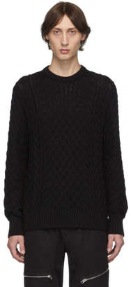 Rag & Bone Black Aran Crewneck Sweater