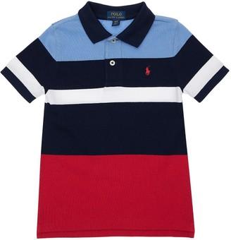 Ralph Lauren Color Block Cotton Pique Polo