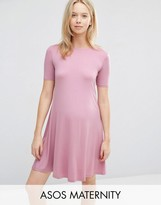 Asos Swing Dress With Short Sleeve
