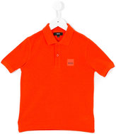 Boss Kids - logo plaque polo shirt - kids - Cotton - 8 yrs