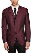 Merc of London Men's Plain or unicolor Suit - Red -