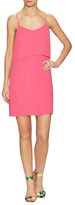 BCBGeneration Paneled Curve Hem Cocktail Dress