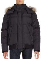 Andrew Marc Coyote Fur Hooded Long Sleeve Jacket
