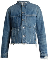 Helmut Lang Frayed-edge cropped denim jacket