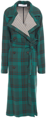 See by Chloe Checked Gabardine Trench Coat
