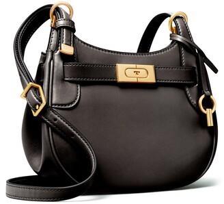 Tory Burch Lee Radziwill Small Leather Saddle Bag