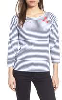Draper James Three Hearts Stripe Tee