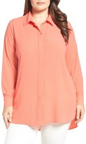 Vince Camuto Plus Size Women's High/low Tunic Blouse