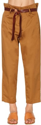 Forte Forte High Waist Cotton Twill Pants