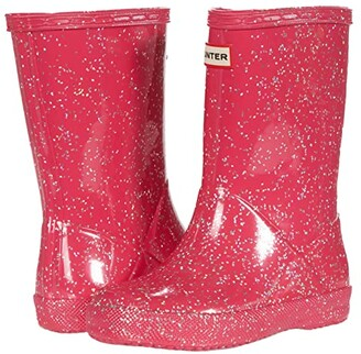 Hunter Original First Classic Giant Glitter Wellington Boots (Toddler/Little Kid) (Thrift Pink) Kid's Shoes