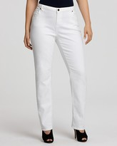 MICHAEL Michael Kors Size Straight Jeans in White
