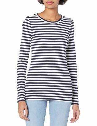 J.Crew Women's Slim Perfect Long-Sleeve T-Shirt in Stripes