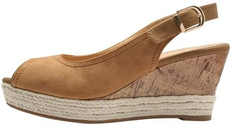 M&Co Scotty slingback peep toe wedge