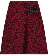 Coach Printed Silk Mini Wrap Skirt