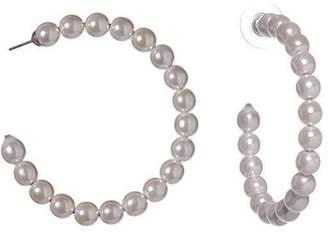 Lele Sadoughi Pearl Hoop Earrings
