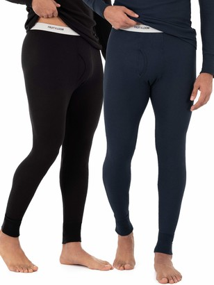 Fruit of the Loom Men's Classic Midweight Waffle Thermal Bottom (2 Pack)