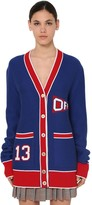 Off-White Off White University Flag Wool Blend Knit Cardigan