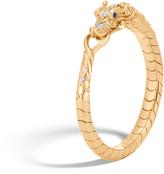 John Hardy Women's Legends Naga Bracelet in 18K Gold with Pave White Diamond (0.22ct)