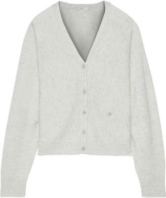 Joie Hadyn Melange Wool And Cashmere-blend Cardigan