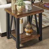 HomeVance Ackerly Mixed Media Rustic End Table