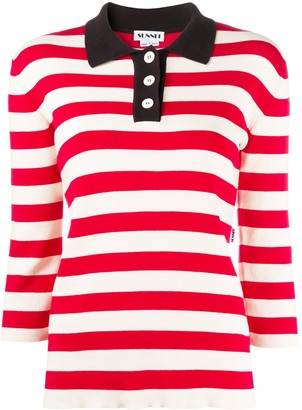 Sunnei Striped Polo Shirt