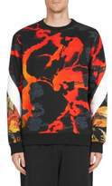 Givenchy Allover Hells Fire-Print Cotton Sweatshirt