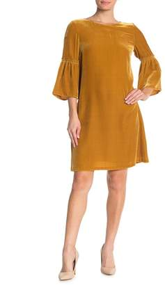 Lafayette 148 New York Roslin Bell Sleeve Velvet Dress