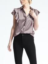 Banana Republic Easy Care Dillon-Fit Flutter-Sleeve Shirt
