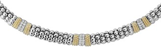 Lagos Diamond Lux Triple Station Collar Necklace