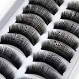 BOOLAVARD 20 Pairs Black Long Handmade Voluminous False Eyelashes