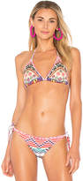 Rococo Sand X REVOLVE Triangle Top in Pink. - size S (also in XS)