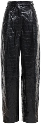 REMAIN Cleo Croc Embossed Leather Pants