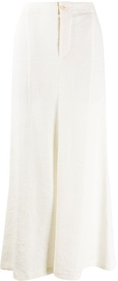 UMA WANG Corduroy Long High-Waisted Skirt