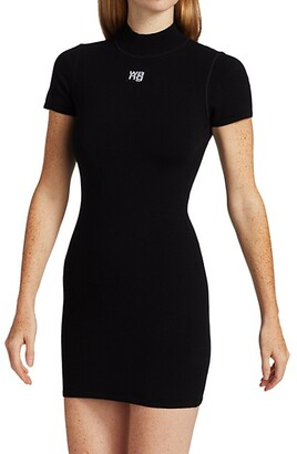 alexanderwang.t Bodycon Logo-Patch T-Shirt Dress