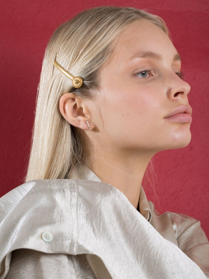 Thumbnail for your product : Versace Single Tribute Right Side Bobby Pin