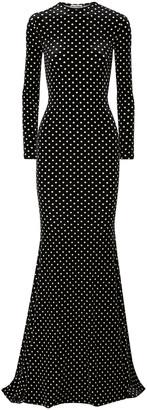 Balenciaga Polka-dot Chenille Gown