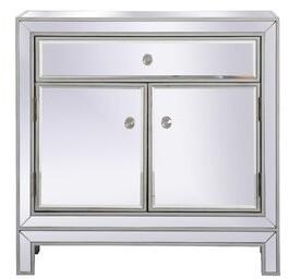 House Of Hamptonâ® Aubrielle 2 Door Mirrored Accent Cabinet House of HamptonA Color: Antique Silver