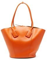 Bottega Veneta Basket Large Leather Tote Bag - Womens - Orange