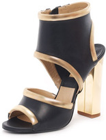 Michael Kors Cutout Sandal, Nero