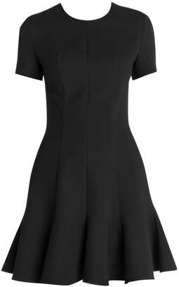 Stella McCartney Fit-&-Flare Mikado Short Dress