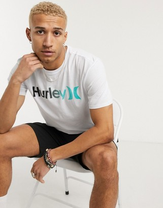 Hurley One and Only gradient 2.0 t-shirt in white
