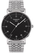 Tissot T1096101107700 Men's Everytime Bracelet Strap Watch, Silver/Black