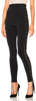 Alexandre Vauthier Lace Up Side Knit Pants in Black.