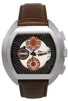 Dolce & Gabbana Men's DW0213 Leather Synthetic with Brown Dial Watch